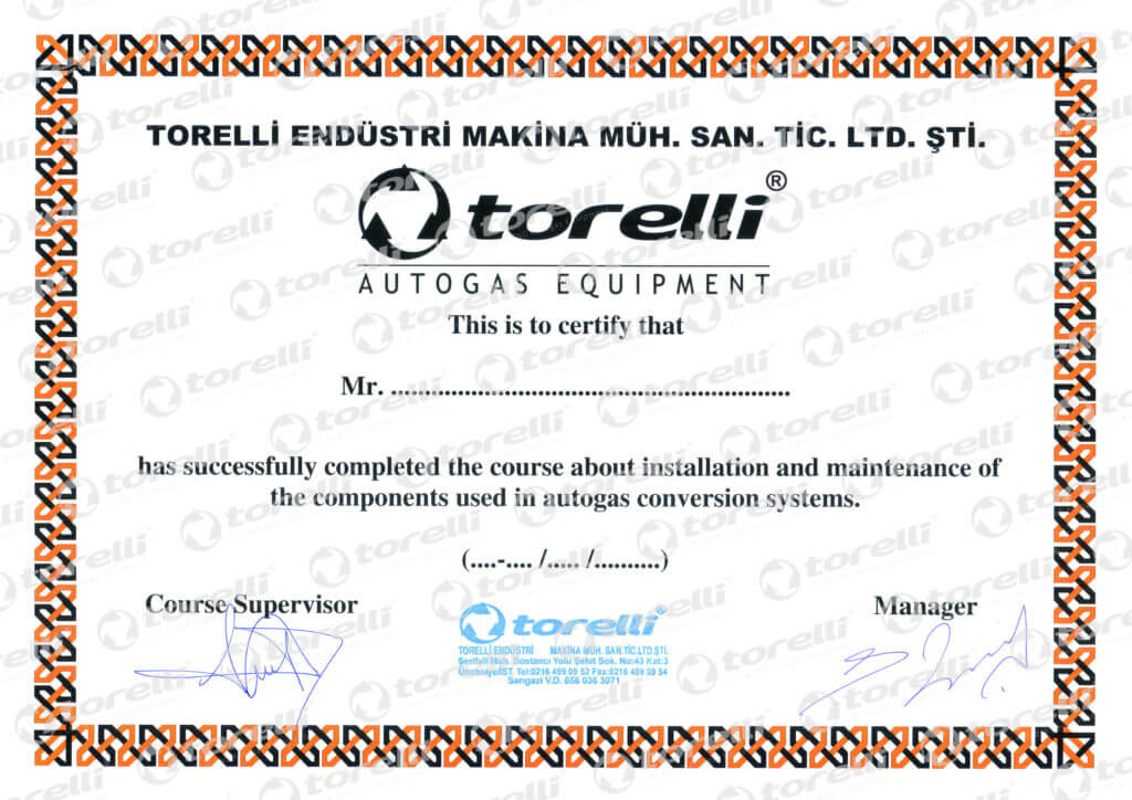 Сертификат Torelli