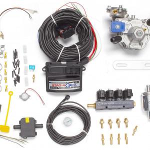 Мини-комплект ГБО 4 поколения STAG 4 QBox (редуктор Alaska, форсунки Torelli, фильтр, температурный датчик Бельгия)