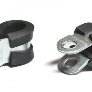 Крепеж трубки с резиновой прокладкой