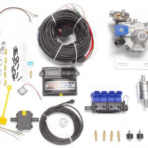 Мини-комплект ГБО 4 поколения STAG 4 QBox (редуктор Alaska, форсунки OMVL, фильтр, температурный датчик Бельгия)