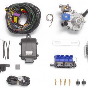Мини-комплект ГБО 4 поколения KME Nevo (редуктор Alaska, форсунки OMVL, фильтр, датчик уровня топлива AEB1090)