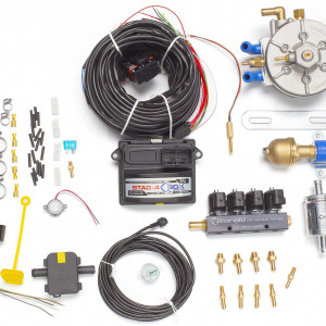 Мини-комплект ГБО 4 поколения STAG 4 QBox (редуктор Torelli Aries, газовый клапан Torelli №7, реверс 6х6, форсунки Torelli, фильтр, температурный датчик Бельгия)