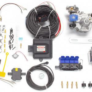 Мини-комплект ГБО 4 поколения STAG 200 GoFast (редуктор Alaska, форсунки OMVL, фильтр, температурный датчик Бельгия)