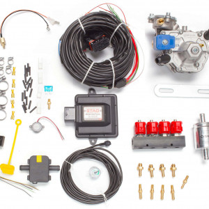 Мини-комплект ГБО 4 поколения STAG 200 GoFast (редуктор Alaska, форсунки Valtek, фильтр, температурный датчик Бельгия)