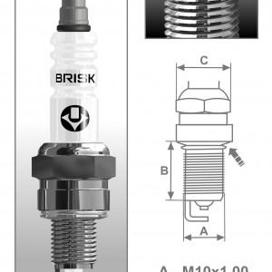 Свеча зажигания Brisk Silver NAR15YS (1 штука)