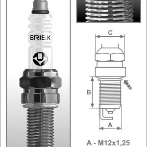 Свеча зажигания Brisk Silver QR12LS (1 штука)