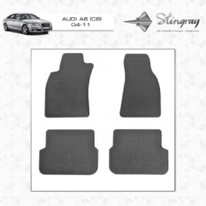 Комплект резиновых ковриков в салон автомобиля Audi A6 С6