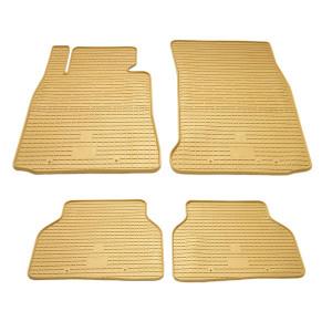 Комплект резиновых ковриков в салон автомобиля BMW 3 E90/E91/E92 бежевые