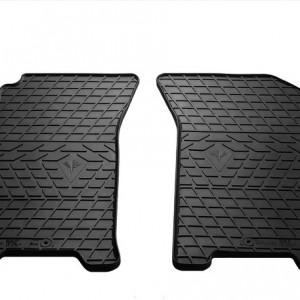 Передние автомобильные резиновые коврики Chevrolet Aveo 2004- (design 2016)