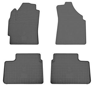Комплект резиновых ковриков в салон автомобиля Daewoo Matiz 1998- (design 2016)