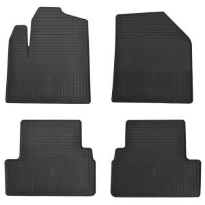 Комплект резиновых ковриков в салон автомобиля Ford Transit Connect 2014- (design 2016)