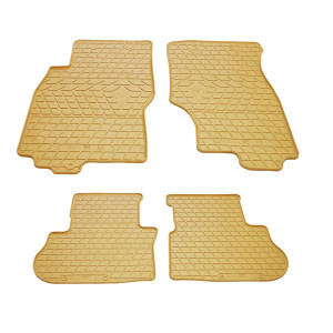 Комплект резиновых ковриков в салон автомобиля Infiniti FX (s51) бежевые