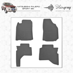 Комплект резиновых ковриков в салон автомобиля Mitsubishi Pajero Sport
