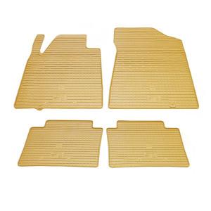 Комплект резиновых ковриков в салон автомобиля Nissan Teana J32 бежевые
