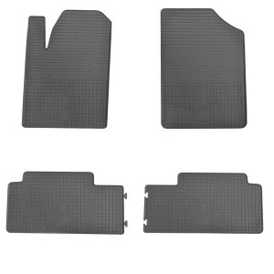Комплект резиновых ковриков в салон автомобиля Peugeot Partner 1999-2008 (design 2016)
