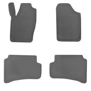 Комплект резиновых ковриков в салон автомобиля Skoda Fabia II 2007- (design 2016)