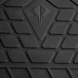 Комплект резиновых ковриков в салон автомобиля Skoda Yeti 2009- (design 2016)