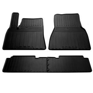 Комплект резиновых ковриков в салон автомобиля Tesla Model S 2012-