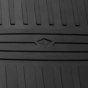 Комплект резиновых ковриков в салон автомобиля Tesla Model X 2015- (special design 2017)