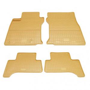 Комплект резиновых ковриков в салон автомобиля Toyota Land Cruiser Prado 150 бежевые