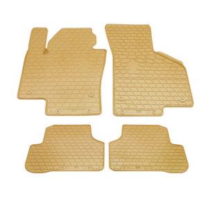 Комплект резиновых ковриков в салон автомобиля Volkswagen Passat B7 бежевые