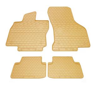 Комплект резиновых ковриков в салон автомобиля Volkswagen Passat B8 бежевые