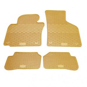 Комплект резиновых ковриков в салон автомобиля Volkswagen Passat CC бежевые