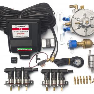Мини-комплект ГБО 4 поколения Torelli T3 Pro OBD 6 цилиндров, редуктор Torelli Aries, форсунки Torelli Rapido, газовый клапан, реверс, фильтр, датчик уровня топлива AEB1090