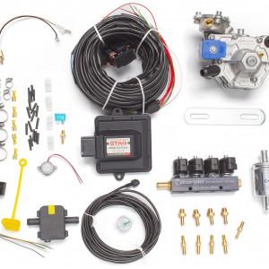 Мини-комплект ГБО 4 поколения STAG 200 GoFast (редуктор Alaska, форсунки Torelli, фильтр, температурный датчик Бельгия)