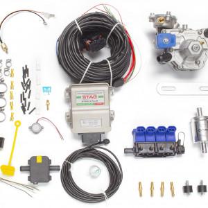 Мини-комплект ГБО 4 поколения STAG 4+ (редуктор Alaska, форсунки OMVL, фильтр, температурный датчик Бельгия)