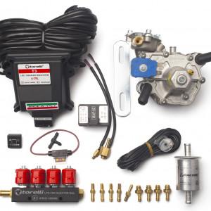 Мини-комплект ГБО 4 поколения Torelli T3 Pro (редуктор Alaska, форсунки Torelli, фильтр, датчик уровня топлива AEB1090)