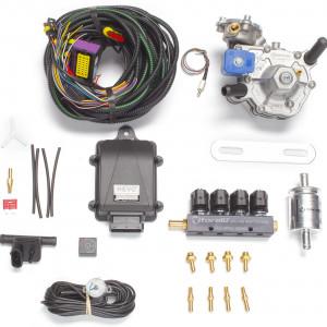 Мини-комплект ГБО 4 поколения KME Nevo (редуктор Alaska, форсунки Torelli, фильтр, датчик уровня топлива AEB1090)