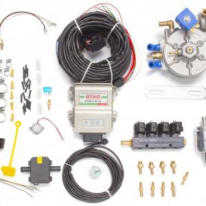 Мини-комплект ГБО 4 поколения STAG 4+ (редуктор Torelli Taurus, форсунки Torelli, фильтр, температурный датчик Бельгия)