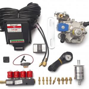 Мини-комплект ГБО 4 поколения Torelli T3 Pro OBD (редуктор Alaska, форсунки Valtek, фильтр, датчик уровня топлива AEB1090)