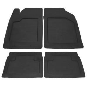 Комплект резиновых ковриков в салон автомобиля UNI Practic