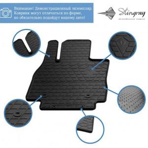 Комплект резиновых ковриков в салон автомобиля Hyundai Santa Fe II (CM) (2010-2012) (design 2016) (1009354)