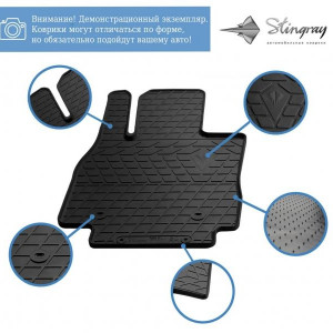 Передние автомобильные резиновые коврики Opel Mokka 2012-2021 (1015272)