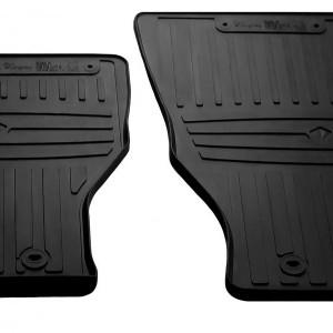Передние автомобильные резиновые коврики Dodge Ram 1500 (Crew cab) (2018-…) (special design 2017) (1053052)