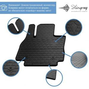 Комплект резиновых ковриков в салон автомобиля Fiat Freemont 2011-2016 (1006214)