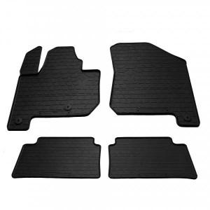 Комплект резиновых ковриков в салон автомобиля Kia soul EV 2014- (1010154)