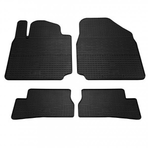 Комплект резиновых ковриков в салон автомобиля Nissan Micra K12 (1014124)