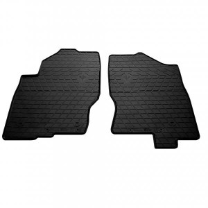 Передние автомобильные резиновые коврики Nissan Pathfinder III (R51) (2010-2015) (design 2016) (1014242)