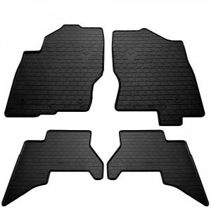 Комплект резиновых ковриков в салон автомобиля Nissan Pathfinder III (R51) (2010-2015) (design 2016) (1014244)
