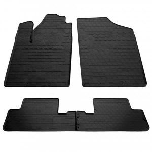 Комплект резиновых ковриков в салон автомобиля Peugeot Partner 1999-2008 (design 2016) (1016214)