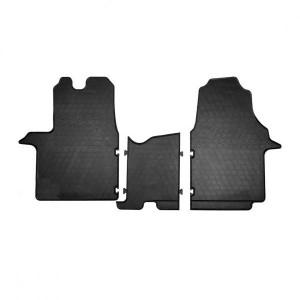 Комплект резиновых ковриков в салон автомобиля Fiat Scudo 2014- (1+2) (1018183)