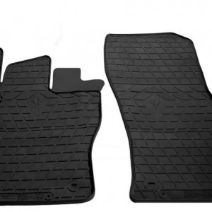 Передние автомобильные резиновые коврики Seat Leon 2012- (design 2016) (1020192)