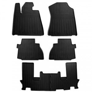 Комплект резиновых ковриков в салон автомобиля Toyota Sequoia II 2008- (special design 2017) (1022386)
