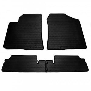 Комплект резиновых ковриков в салон автомобиля Toyota Corolla Verso (ZER/ZZE) 2004–2009 (1022484)