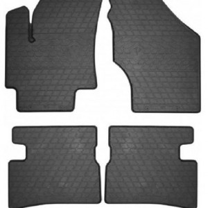Комплект резиновых ковриков в салон автомобиля Kia Rio 2005-2011 (1009214)