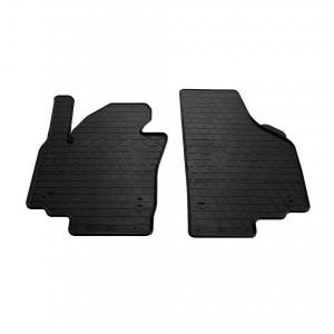 Передние автомобильные резиновые коврики Skoda Yeti 2009- (design 2016) (1024252)